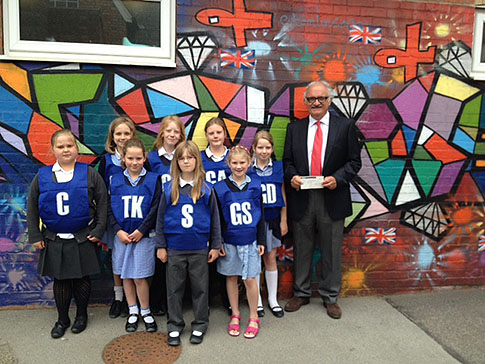 New netball bibs for Normanby-by-Spital Primary School
